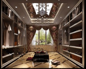 鲁能7号院 高度国际 三居 别墅 白领 80后 白富美 欧式 简约 衣帽间图片来自北京高度国际装饰设计在17万打造欧式奢华鲁能的分享