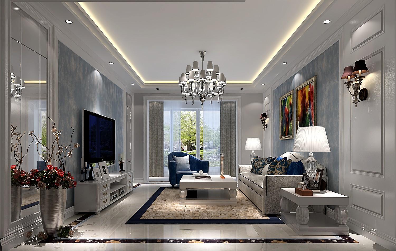 高度国际 时尚 现代 三居 白领 80后 小清新 白富美 简约 客厅图片来自北京高度国际装饰设计在4万打造极致江南山水现代三居的分享