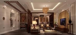 孔雀城 高度国际 时尚 中式 白领 80后 小资 别墅 白富美 客厅图片来自北京高度国际装饰设计在14万打造大运河孔雀城中式别墅的分享