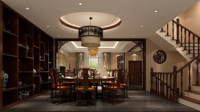 孔雀城 高度国际 时尚 中式 白领 80后 小资 别墅 白富美 餐厅图片来自北京高度国际装饰设计在14万打造大运河孔雀城中式别墅的分享