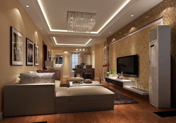 典雅,舒适,客厅是朋友聚会的好地方,大气
