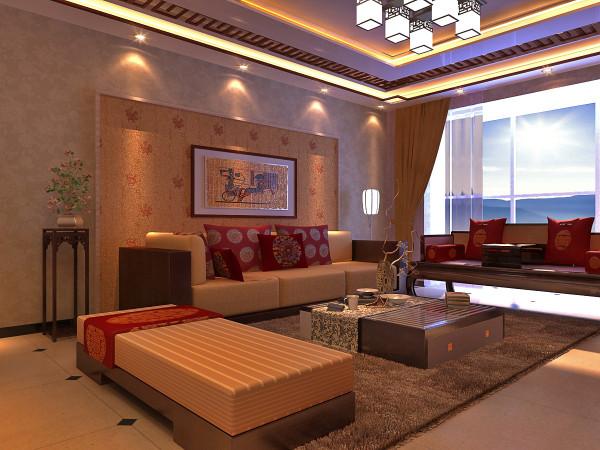 居室在色彩方面秉承了传统古典风格的典雅和华贵,在配饰的选择方面更为简洁,少了许多奢华的装饰,更加流畅地表达出传统文化中的精髓。精巧的灯具和雅致的挂画,使整个居室透露着浓浓的古韵。