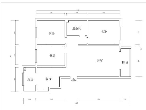 金色梧桐-9.7万打造现代中式-三居室-户型图
