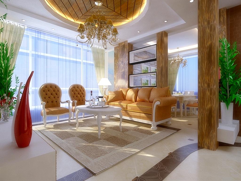 欧式 别墅 简约 家居 风水 生活 广州装修 设计 装修报价 客厅图片来自徐丽娟在气韵流畅,表现出浪漫的柔性美的分享