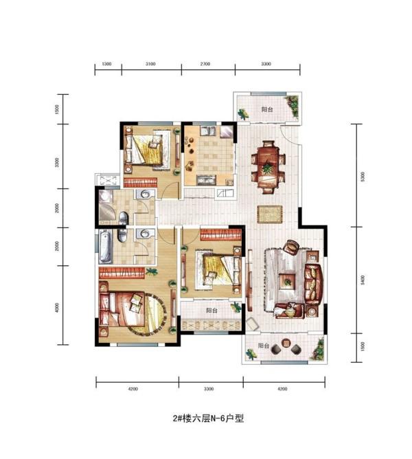 奢华与品质生活的结合民安北郡三居室简约欧式风格装修设计效果图【民安北郡户型图】