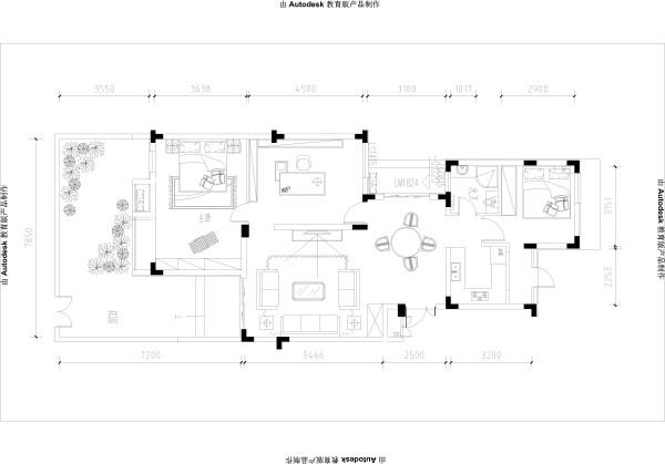 祥源广场-9.4万打造简约中式-三居室-户型图