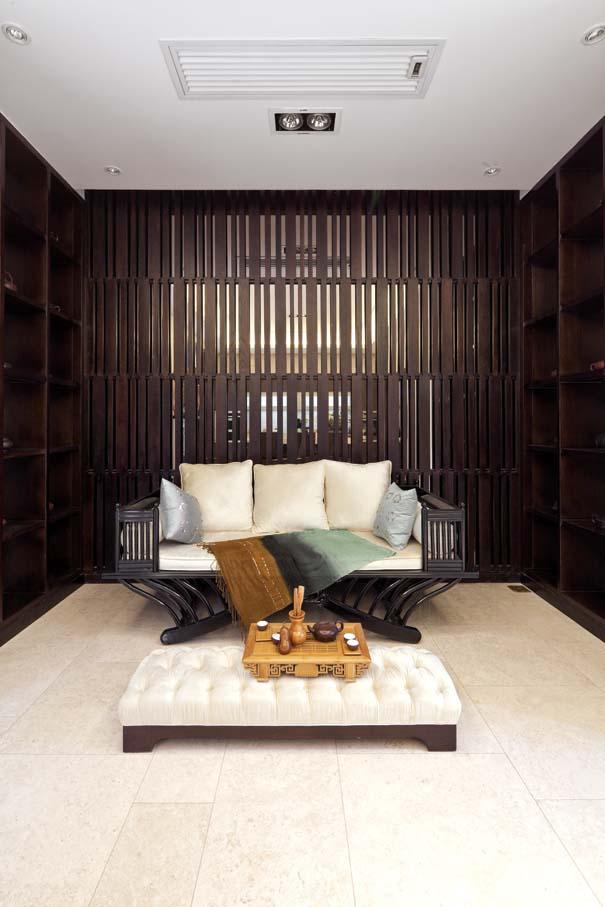 新中式 别墅 书房图片来自东易力天装饰公司在优雅大气的分享
