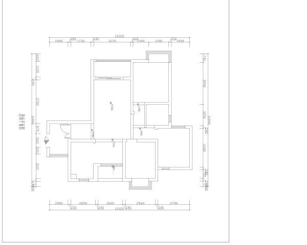 金色假日-6.9万打造现代简约-两居室-户型图