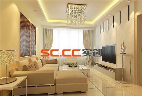 设计简约实用,整体以淡色调为主,背景墙造型整洁美观。