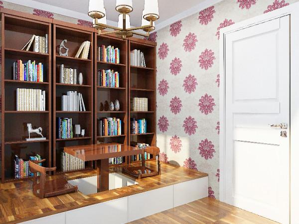 自然的归属民安北郡三居室简约风格装修设计效果图优雅安静的生活品质民安北郡书房装修效果图