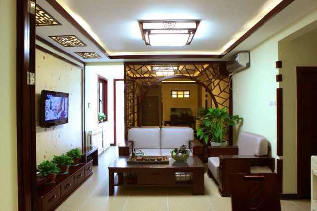 中式 新中式 小三居 80后 小资 客厅图片来自北京实创装饰集团在92平新中式紧凑三居的分享