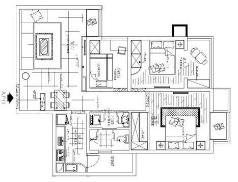锦艺国际华都90平方两室两厅一厨一卫户型图