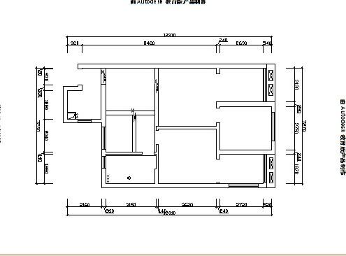 宝业东城广场-6.5万打造现代简约-两居室-户型图