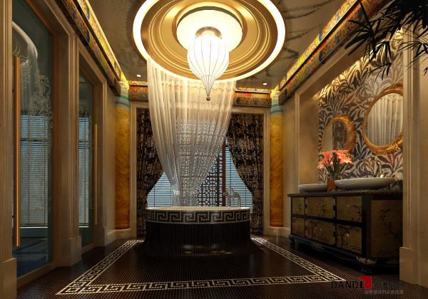名雕丹迪别墅设计,熙龙湾顶级私人会所卫生间