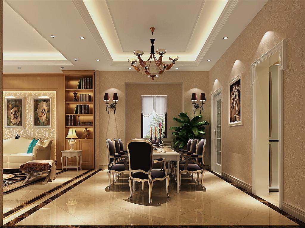 简约 欧式 别墅 白领 80后 白富美 高富帅 时尚 高度国际 餐厅图片来自北京高度国际装饰设计在15万打造红杉溪谷浪漫奢华别墅的分享