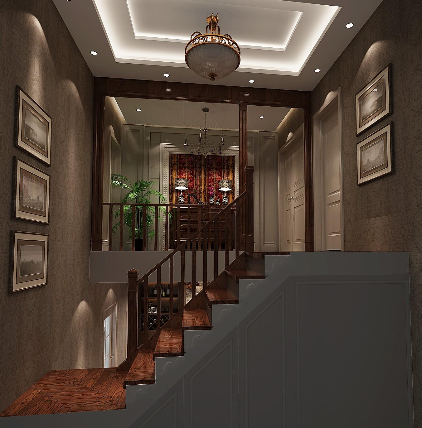 红杉溪谷 高度国际 托斯卡纳 别墅 白领 80后 田园 白富美 时尚 楼梯图片来自北京高度国际装饰设计在15万打造红杉溪谷托斯卡纳田园风的分享