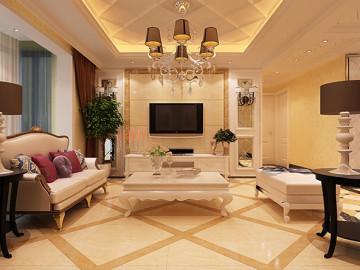 锦艺国际华都三室127平欧式装修