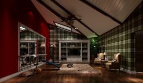 美式 高度国际 时尚 别墅 白领 80后 小资 简约 白富美 客厅图片来自北京高度国际装饰设计在红杉溪谷美式休闲别墅的分享