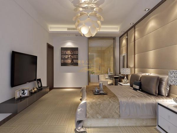 主卫门的扩大化玻璃设计,不但使卧室的空间采光,通透性大大增强,而且使卧室和卫生间有了互动。