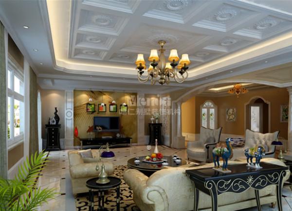 简约欧式风格的客厅。无须太多的修饰,高贵雅致一览无遗。