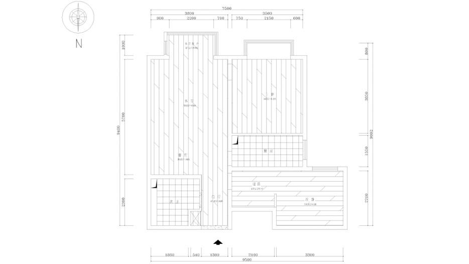装修 设计 高度国际 中式 两居 户型图图片来自用户524527896在逍遥中式.首开熙悦山.的分享
