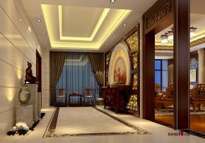 别墅 中式 别墅装修 中式别墅 熙龙湾别墅 高富帅 玄关图片来自名雕丹迪在熙龙湾360平新中式别墅的分享