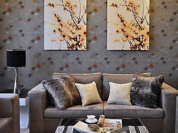沙发背景墙墙纸搭配技巧