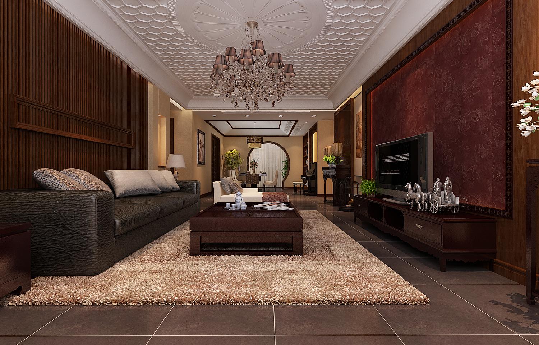 简约 中式风格 简约中式 三居 蓝宝湾装修 客厅图片来自超凡装饰季国华在蓝宝湾新中式装修设计的分享