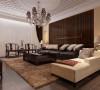 格栅式的沙发背景墙两侧亮黄色的凹陷造型和白色的带有菱形的天花造型为空间添加了生机,增加了一份活跃氛围。