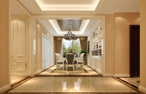 简约 欧式 高度国际 时尚 现代 小清新 三居 白领 80后 餐厅图片来自北京高度国际装饰设计在K2百合湾童话王国的分享