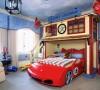 像汽车一样造型的房间,相信是每个男孩子都向往的吧!