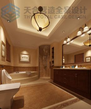 美式 别墅 舒适 宁静 卫生间图片来自武汉天合营造设计在碧桂园350平古典美式风的分享