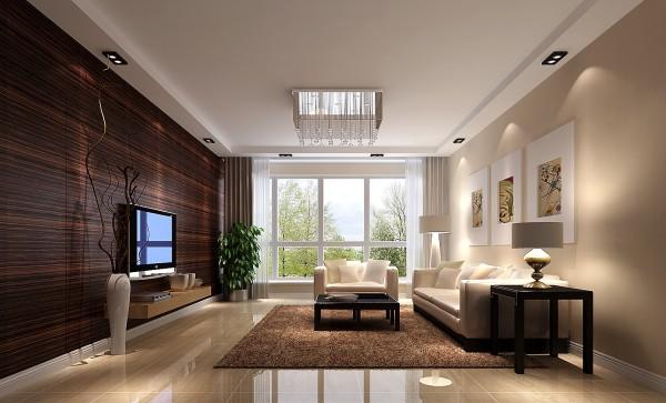 客厅以暖色壁纸与木头上墙的电视背景墙相结合,整个空间呈现出典雅、休闲、舒适的氛围;主卧室用港式配饰与港式家具来打造的优雅细腻的休息空间,柜子下面设计了灯带,晚上可以照明。