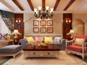 国仕山—田园风格—115平两居室