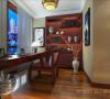 淡然中式古典文化民安北郡三居室装修设计案例【民安北郡书房设计效果图】