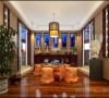 淡然中式古典文化民安北郡三居室装修设计案例【民安北郡阳台设计效果图】