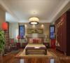 淡然中式古典文化民安北郡三居室装修设计案例【民安北郡卧室设计效果图】