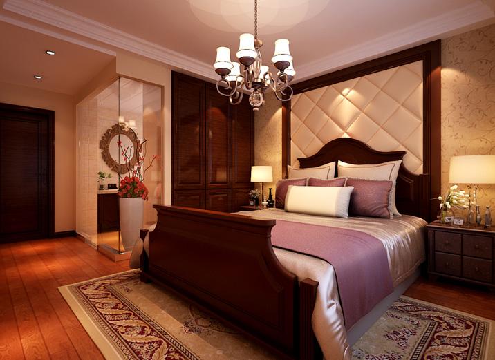 简约 美式 三居室 卧室图片来自实创装饰上海公司在高贵典雅,美式新古典的分享