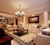 客厅沙发墙舒适美观的客厅设计理念:地毯和装饰画增加了空间的生气,配以美式沙发,有着不过分的张扬,又有其低调的奢华。