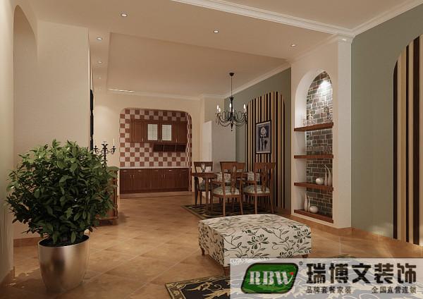 餐厅的设计和整体的风格和整体的风格相搭配,用壁纸搭配有了一个整体的风格