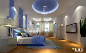 简欧风格 四居室 高富帅 欧式 中信领航 卧室 儿童房 卧室图片来自名雕装饰设计在中信领航五口之家温馨典雅空间的分享