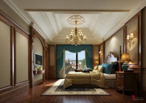 美式 别墅 高富帅 成功人士 别墅装修 名雕丹迪 纯水岸别墅 卧室图片来自名雕丹迪在纯水岸舒适功能,古典美式意蕴的分享