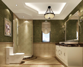 简约 美式 高度国际 时尚 公寓 白领 80后 白富美 温馨 卫生间图片来自北京高度国际装饰设计在果岭Class美式简约幸福之家的分享