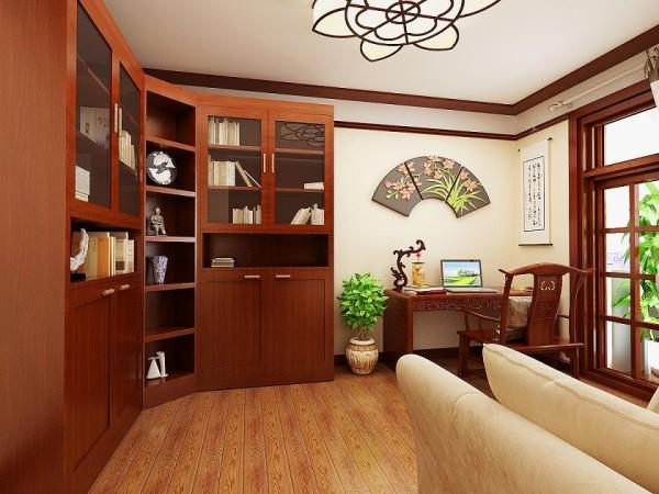 书房的古色古香的装饰,体现了主人的较高审美情趣与社会地位。