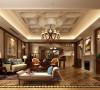 名雕丹迪别墅设计-纯水岸美式别墅-起居室:典雅的古典美式意蕴