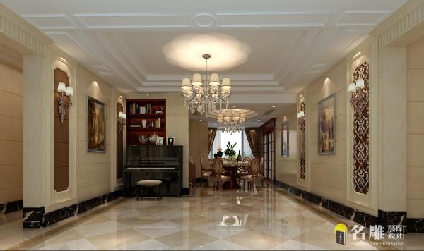 名雕装饰设计-熙龙湾四居室-简欧风情餐厅