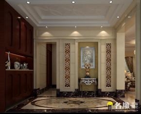 简欧 平层 四居室 豪宅装饰 成功人士 典雅空间 高富帅 玄关图片来自名雕装饰设计在熙龙湾简欧尊贵典雅时尚空间的分享