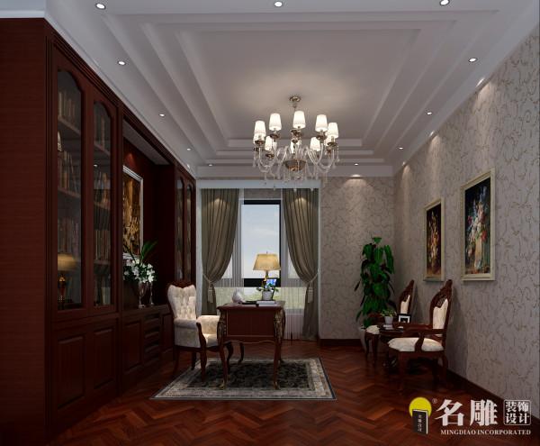 名雕装饰设计-熙龙湾四居室-简欧风情卧室
