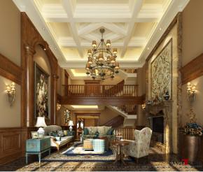 美式 别墅 高富帅 成功人士 别墅装修 名雕丹迪 纯水岸别墅 客厅图片来自名雕丹迪在纯水岸舒适功能,古典美式意蕴的分享