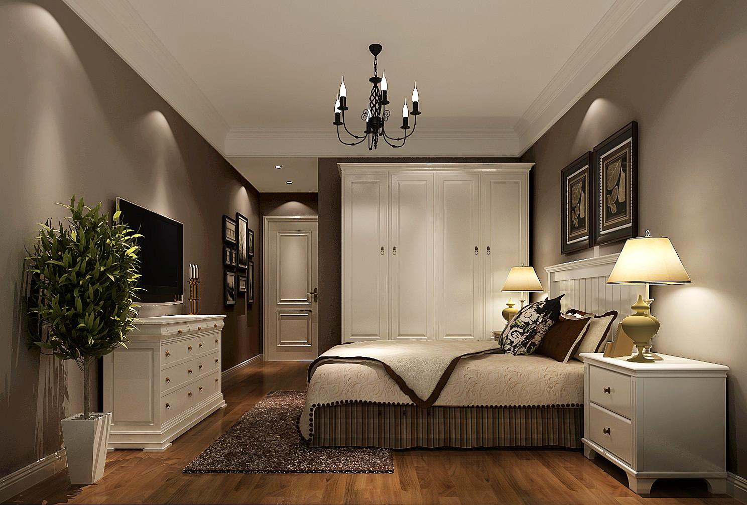 简约 美式 高度国际 时尚 公寓 白领 80后 白富美 温馨 卧室图片来自北京高度国际装饰设计在果岭Class美式简约幸福之家的分享